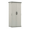 Suncast Vanilla Resin Outdoor Storage Shed (Common: 32.25-in x 25.5-in; Interior Dimensions: 27-in x 20.25-in)