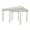 Suncast 8.5-ft x 16-ft x 10-ft White Resin Freestanding Pergola