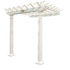 Suncast 8.5-ft x 8-ft x 8-ft White Resin Attached Pergola
