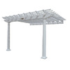 Suncast 8.5-ft x 14-ft x 14-ft White Resin Attached Pergola