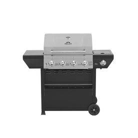 Grill Master 4-Burner (48000 BTU) Liquid Propane Gas Grill with Side Burner