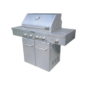 KitchenAid 4-Burner (40,000-BTU) Liquid Propane and Natural Gas Grill with Side and Rotisserie Burner