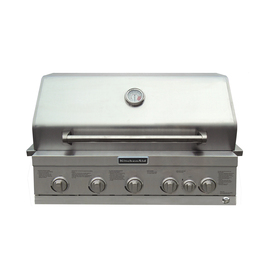 KitchenAid 4-Burner Built-In Liquid Propane and Natural Gas Grill