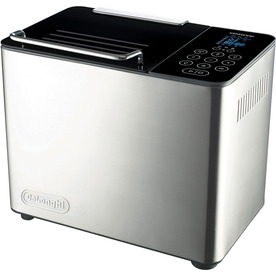 De&#039;Longhi Brushed Metal Countertop Bread Maker