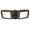 All-Pro 5.5-in 2-Head Halogen Bronze Switch-Controlled Flood Light