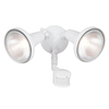 All-Pro 180-Degree 2-Head White Halogen Motion-Activated Flood Light Timer Included