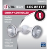 Utilitech 8.25-in 2-Head Halogen White Switch-Controlled Flood Light