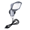 All-Pro 110-Degree 1-Head Gray Halogen Motion-Activated Flood Light Timer Included