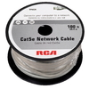 RCA 100-ft CAT 5E Gray Data Cable