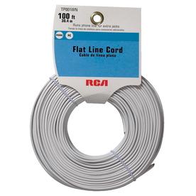 RCA 100' 4-Wire Flat Line Cord - White