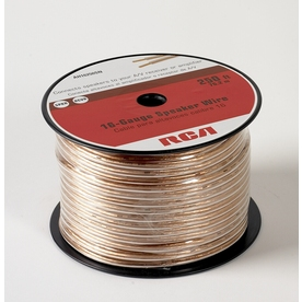 RCA 250-ft 16-AWG to 2 Standard Speaker Wire (By-The-Roll)