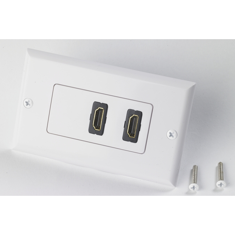 shop rca rca hdmi wall plate dual at