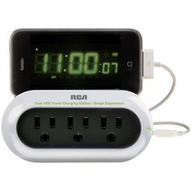 RCA Portable Charging Station and Surge Protector