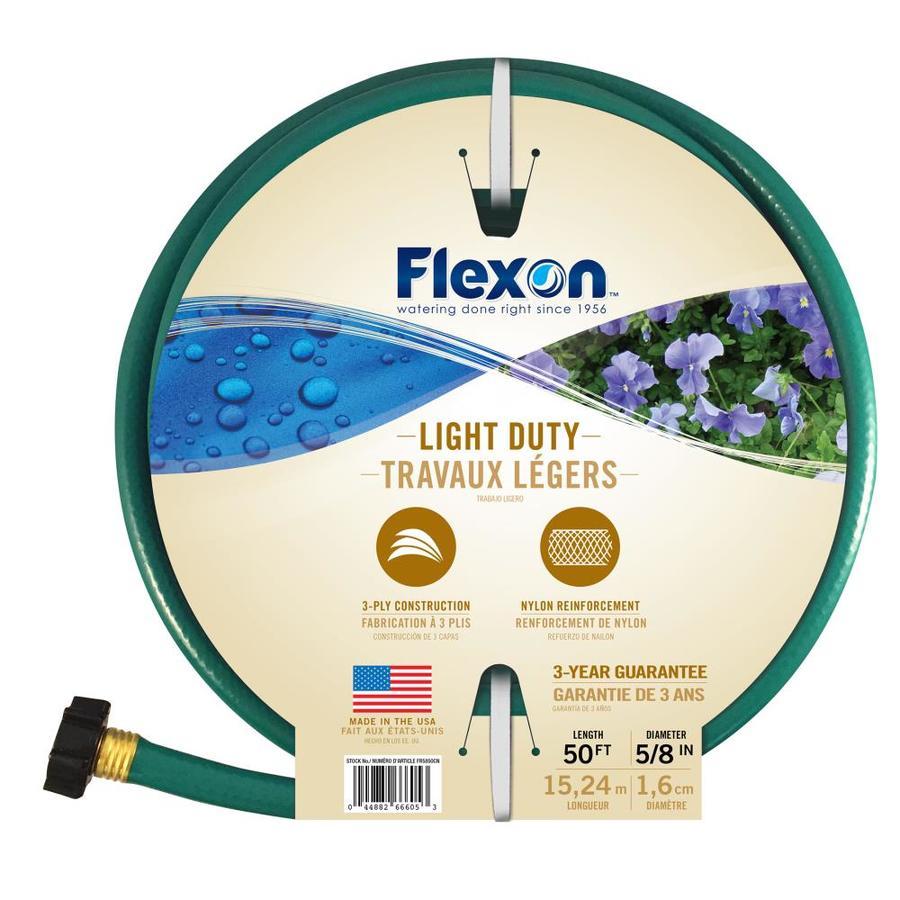 FLEXON 5/8 in x 50 ft Light Duty Garden Hose