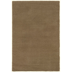 Shaw Living Shaggedy Shag Rectangular Indoor Tufted Area Rug (Common: 5 x 8; Actual: 60-in W x 84-in L)