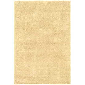 Shaw Living Shaggedy Shag 7-ft 6-in x 10-ft Rectangular Beige Solid Area Rug