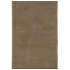 Shaw Living Shaggedy Shag 90-in x 120-in Rectangular Brown/Tan Solid Area Rug