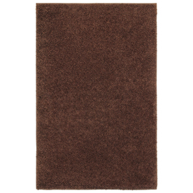 Shaw Living Shaggedy Shag Rectangular Brown Solid Tufted Area Rug (Common: 5-ft x 8-ft; Actual: 5-ft x 7-ft)