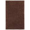 Shaw Living Shaggedy Shag 60-in x 84-in Rectangular Brown/Tan Solid Area Rug