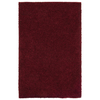 Shaw Living Shaggedy Shag 60-in x 84-in Rectangular Red/Pink Solid Area Rug