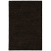 Shaw Living Shaggedy Shag 90-in x 120-in Rectangular Black Solid Area Rug