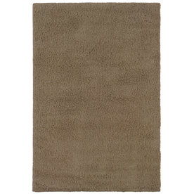 Shaw Living 4-ft x 6-ft Taupe Shaggedy Shag Area Rug
