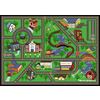 Shaw Living All Around The Town 39-in x 54-in Rectangular Green Sports Accent Rug