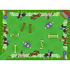 Shaw Living Jumpers 39-in x 54-in Rectangular Green Sports Accent Rug