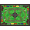 Shaw Living All Aboard 39-in x 54-in Rectangular Green Sports Accent Rug