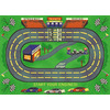 Shaw Living Speedway 39-in x 54-in Rectangular Green Sports Accent Rug