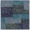 Style Selections Jeanne 45-in x 26-in Rectangular Blue Transitional Accent Rug
