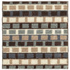 Style Selections San Pedro 45-in x 27-in Rectangular Brown Block Accent Rug