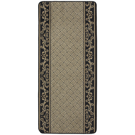 Nance Nance Carpet Black Rectangular Indoor Tufted Runner (Common: 2 x 10; Actual: 26-in W x 120-in L)