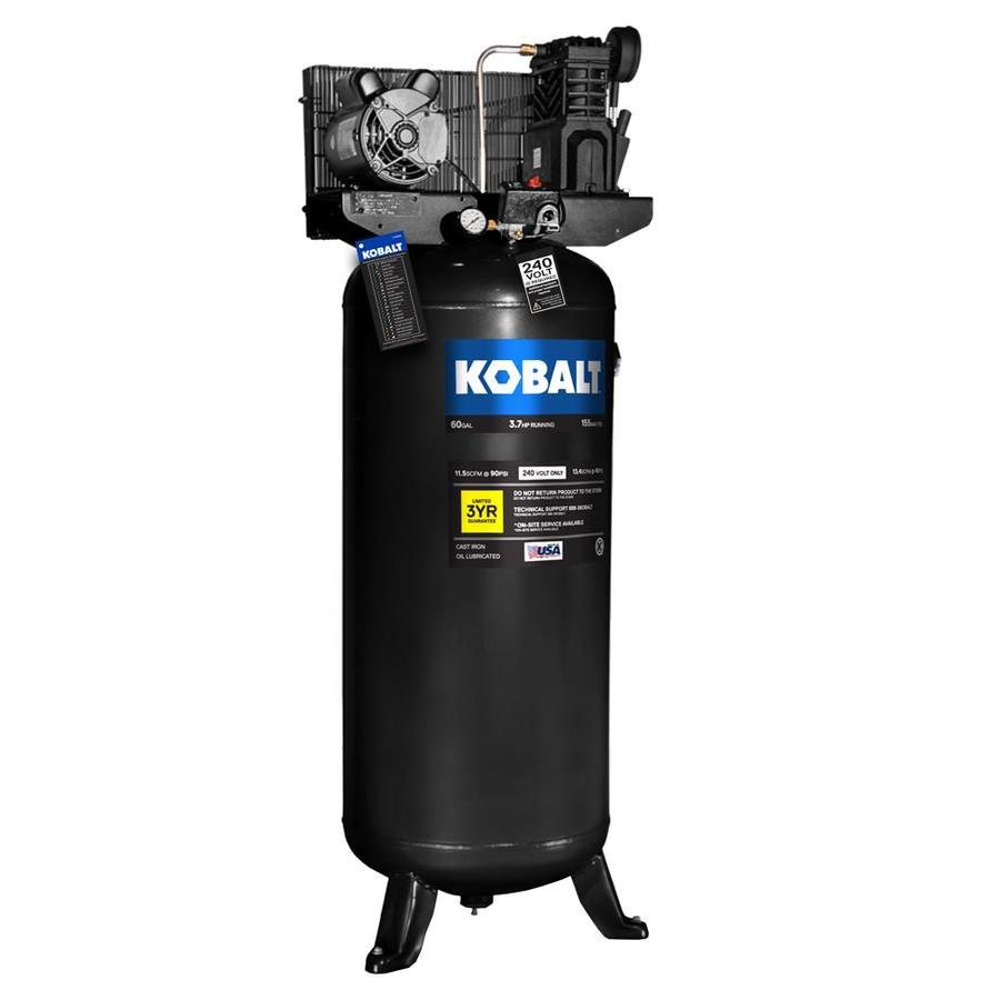 60-Gallon 155-PSI 230-Volt Vertical Electric Air Compressor at Lowes