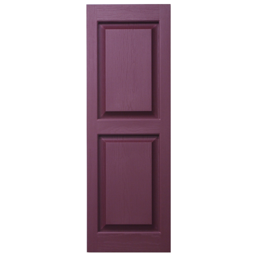 Shop Severe Weather 2 Pack Bordeaux Raised Panel Vinyl Exterior Shutters Common 71 In X 15 In