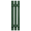 Severe Weather 2-Pack Heritage Green Board and Batten Vinyl Exterior Shutters (Common: 35-in x 12-in; Actual: 35-in x 12.38-in)