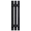Severe Weather 2-Pack Black Board and Batten Vinyl Exterior Shutters (Common: 12-in x 51-in; Actual: 12.38-in x 51-in)
