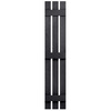 Severe Weather 2-Pack Black Board and Batten Vinyl Exterior Shutters (Common: 12-in x 55-in; Actual: 12.38-in x 55-in)