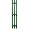 Severe Weather 2-Pack Heritage Green Board and Batten Vinyl Exterior Shutters (Common: 55-in x 12-in; Actual: 55-in x 12.38-in)