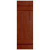 Severe Weather 2-Pack Earthen Red Board and Batten Vinyl Exterior Shutters (Common: 14-in x 31-in; Actual: 14.31-in x 31-in)