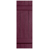Severe Weather 2-Pack Bordeaux Board and Batten Vinyl Exterior Shutters (Common: 14-in x 31-in; Actual: 14.31-in x 31-in)