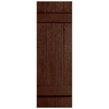 Severe Weather 2-Pack Brown Board and Batten Vinyl Exterior Shutters (Common: 14-in x 31-in; Actual: 14.31-in x 31-in)