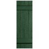 Severe Weather 2-Pack Heritage Green Board and Batten Vinyl Exterior Shutters (Common: 14-in x 31-in; Actual: 14.31-in x 31-in)