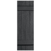 Severe Weather 2-Pack Granite Board and Batten Vinyl Exterior Shutters (Common: 14-in x 31-in; Actual: 14.31-in x 31-in)