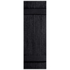 Severe Weather 2-Pack Black Board and Batten Vinyl Exterior Shutters (Common: 14-in x 35-in; Actual: 14.31-in x 35-in)