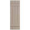 Severe Weather 2-Pack Sandstone Board and Batten Vinyl Exterior Shutters (Common: 14-in x 35-in; Actual: 14.31-in x 35-in)