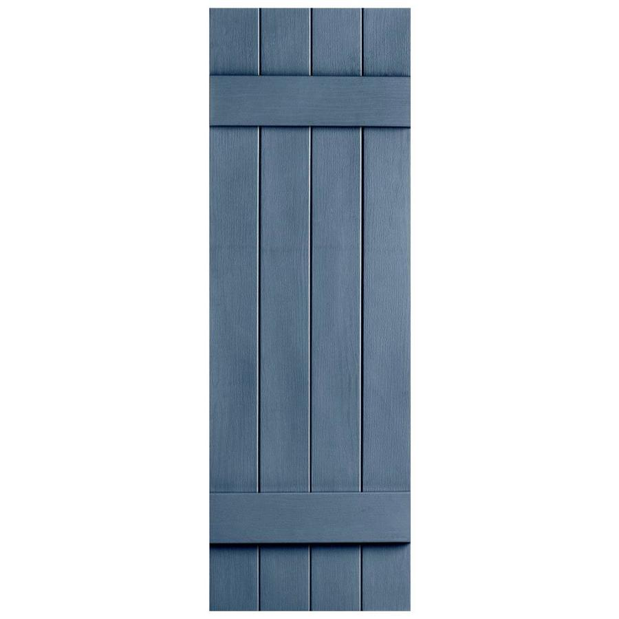 Shop Severe Weather 2 Pack Midnight Blue Board And Batten Vinyl Exterior Shut