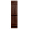 Severe Weather 2-Pack Brown Board and Batten Vinyl Exterior Shutters (Common: 14-in x 59-in; Actual: 14.31-in x 59-in)