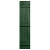 Severe Weather 2-Pack Heritage Green Board and Batten Vinyl Exterior Shutters (Common: 14-in x 75-in; Actual: 14.31-in x 75-in)