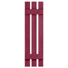 Severe Weather 2-Pack Berry Board and Batten Vinyl Exterior Shutters (Common: 12-in x 35-in; Actual: 12.38-in x 35-in)